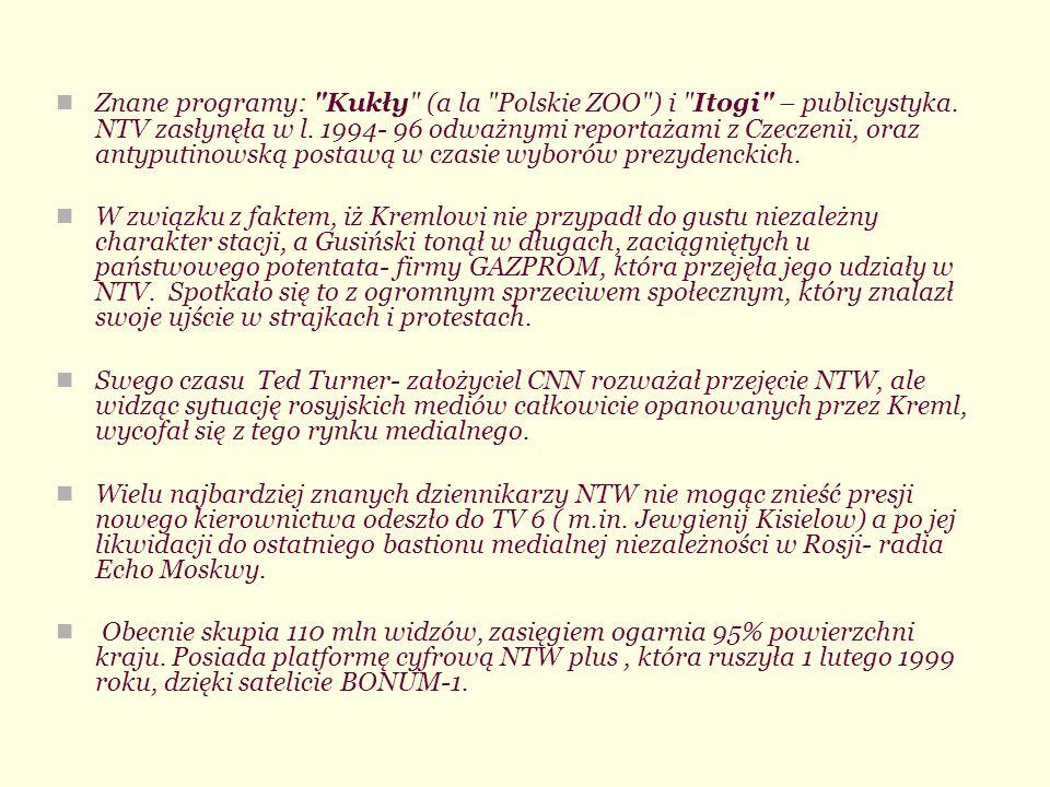 Znane programy: