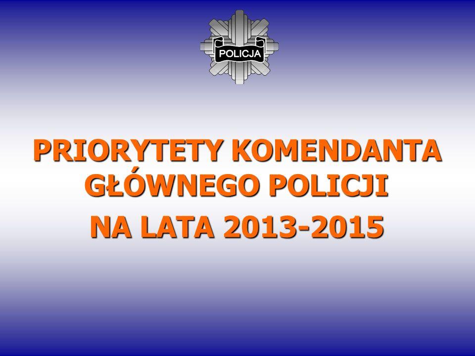 PRIORYTETY KOMENDANTA GŁÓWNEGO POLICJI NA LATA 2013-2015