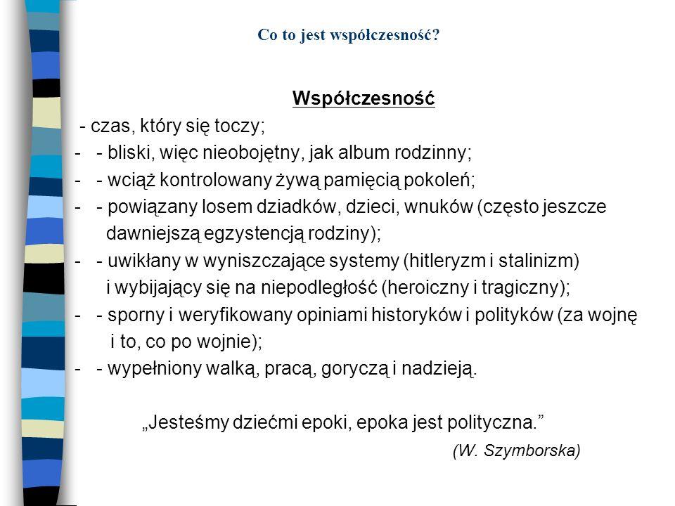 Lata dziewięćdziesiąte Lata dziewięćdziesiąte to czasy nowej generacji ludzi, kt ó rzy nie pamiętają ani II wojny światowej, czas ó w Polski Ludowej i stanu wojennego.