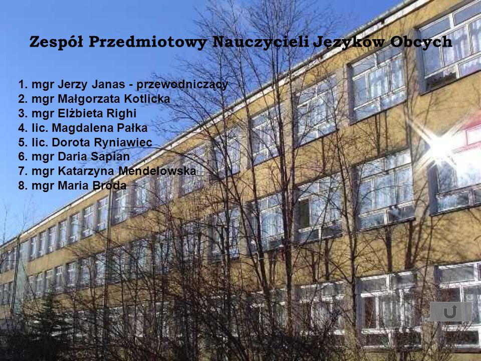 1. mgr Jerzy Janas - przewodniczący 2. mgr Małgorzata Kotlicka 3. mgr Elżbieta Righi 4. lic. Magdalena Pałka 5. lic. Dorota Ryniawiec 6. mgr Daria Sap