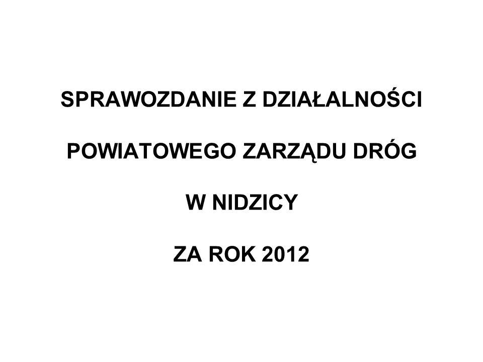 Podstawy prawne funkcjonowania Powiatowego Zarządu Dróg w Nidzicy uchwała nr III/1/98 Rady Powiatu w Nidzicy z dnia 22 grudnia 1998r.