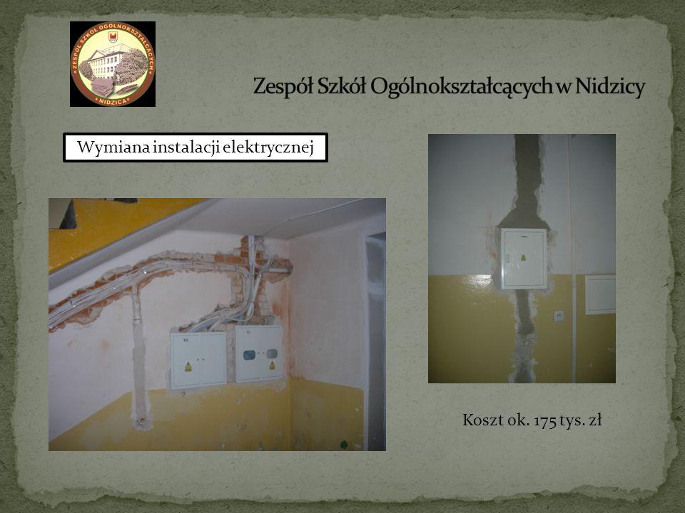 Wymiana instalacji elektrycznej Koszt ok. 175 tys. zł