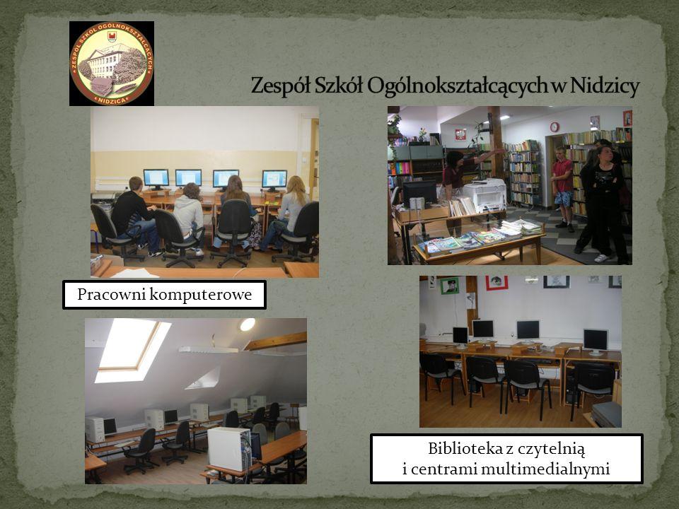 Pracowni komputerowe Biblioteka z czytelnią i centrami multimedialnymi