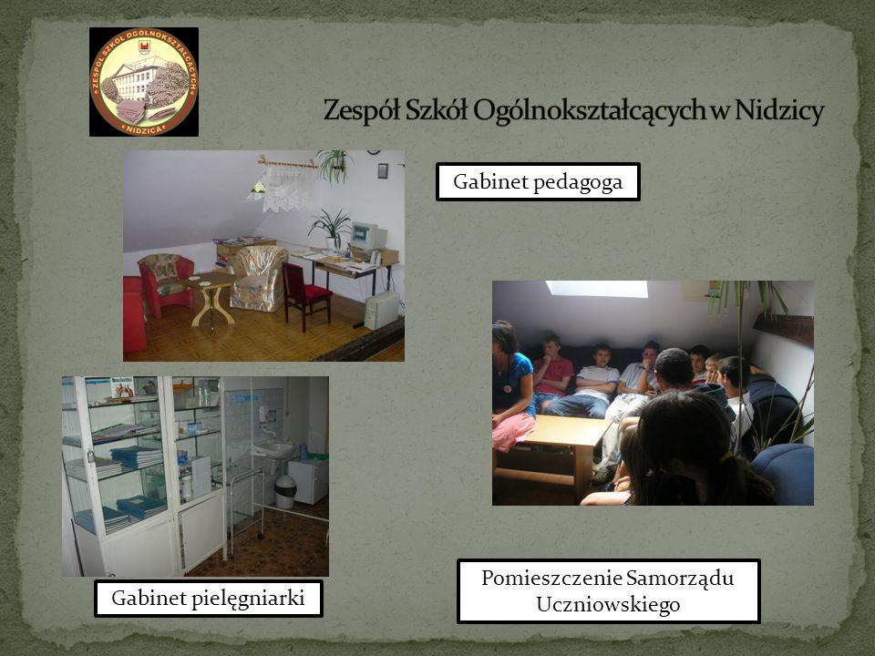 Gabinet pedagoga Gabinet pielęgniarki Pomieszczenie Samorządu Uczniowskiego