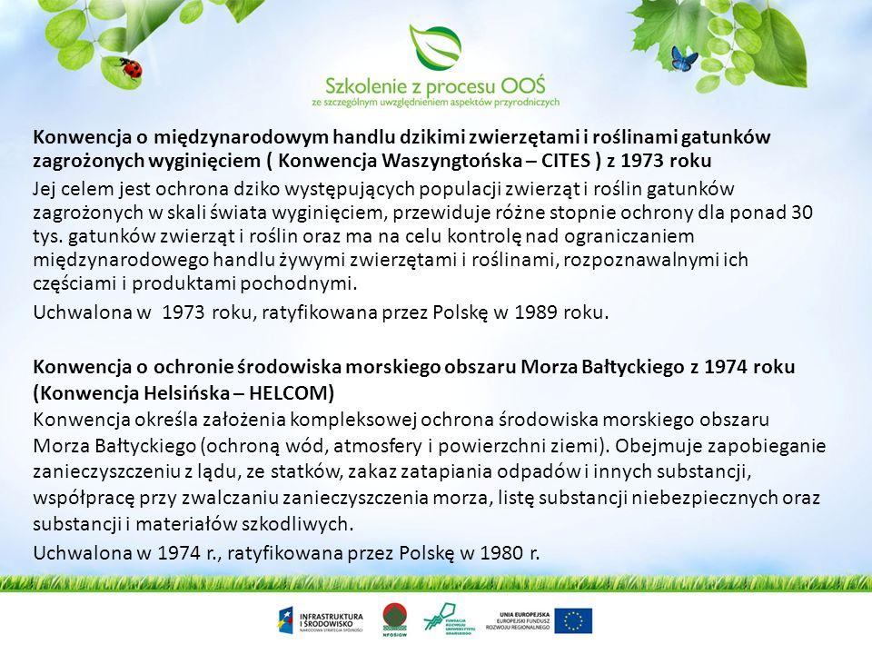 Konwencja o międzynarodowym handlu dzikimi zwierzętami i roślinami gatunków zagrożonych wyginięciem ( Konwencja Waszyngtońska – CITES ) z 1973 roku Je