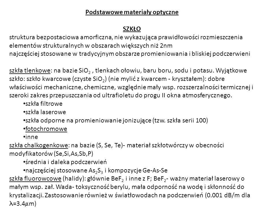 KRYSZTAŁY najdawniej stosowany mat.opt.