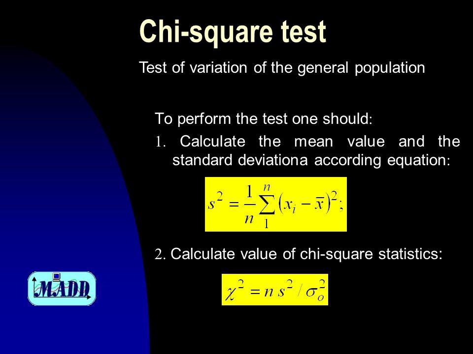 Chi-square test 3.
