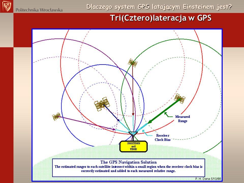 Dlaczego system GPS latającym Einsteinem jest? Tri(Cztero)lateracja w GPS