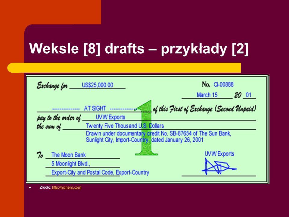 Weksle [8] drafts – przykłady [2] Źródło: http://hichem.comhttp://hichem.com
