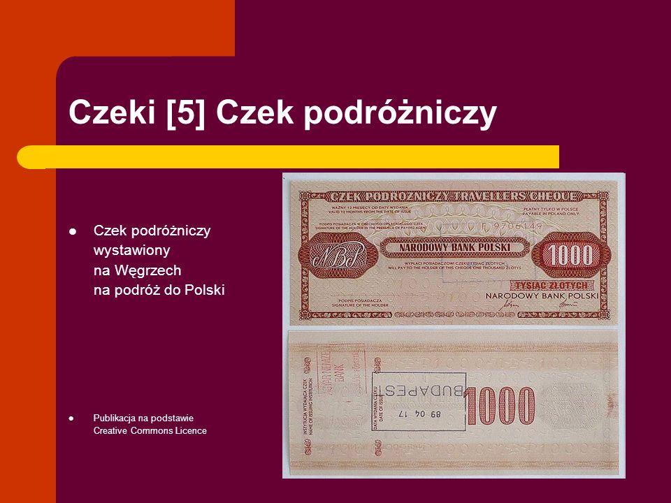 Czeki [5] Czek podróżniczy Czek podróżniczy wystawiony na Węgrzech na podróż do Polski Publikacja na podstawie Creative Commons Licence