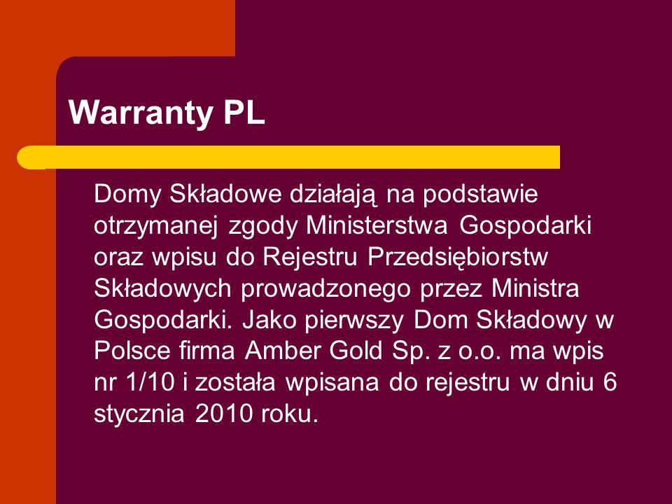 Warranty PL Domy Składowe działają na podstawie otrzymanej zgody Ministerstwa Gospodarki oraz wpisu do Rejestru Przedsiębiorstw Składowych prowadzoneg