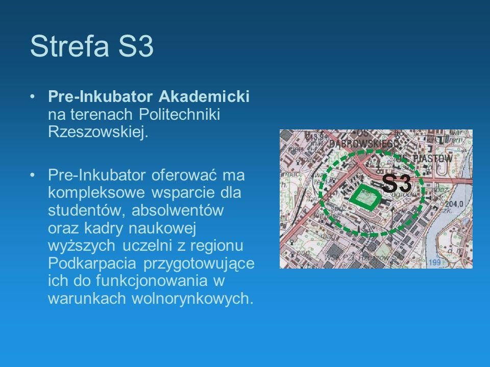 Strefa S3 Pre-Inkubator Akademicki na terenach Politechniki Rzeszowskiej. Pre-Inkubator oferować ma kompleksowe wsparcie dla studentów, absolwentów or