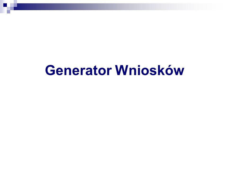 Generator Wniosków