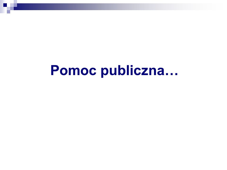 Pomoc publiczna…