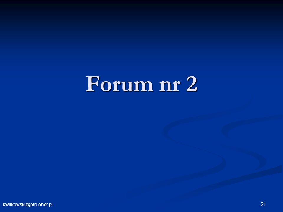 kwitkowski@pro.onet.pl 21 Forum nr 2