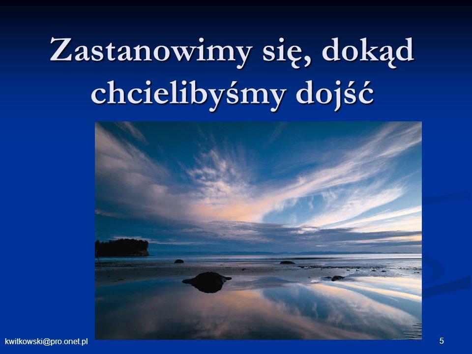 kwitkowski@pro.onet.pl 5 Zastanowimy się, dokąd chcielibyśmy dojść