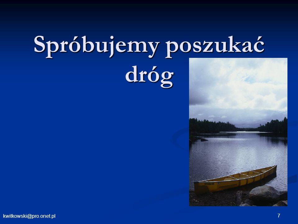 kwitkowski@pro.onet.pl 28 Szukamy dróg