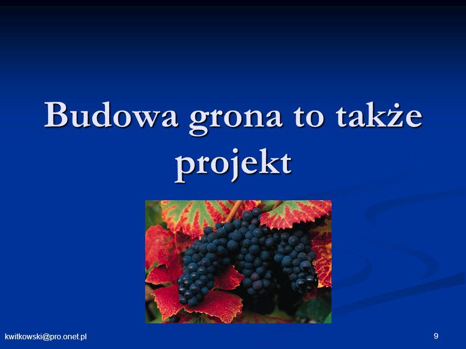 kwitkowski@pro.onet.pl 9 Budowa grona to także projekt