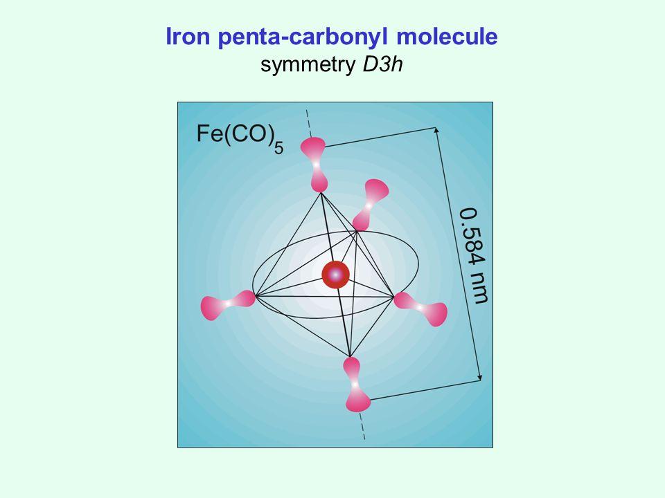Iron penta-carbonyl molecule symmetry D3h