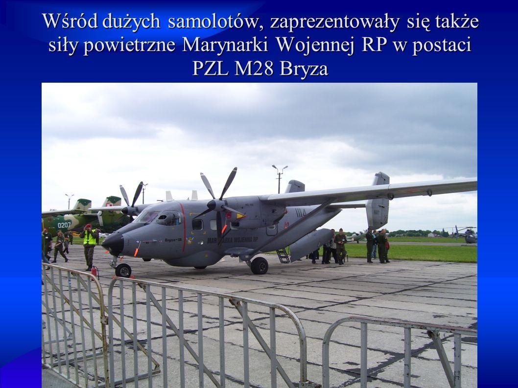 Wśród dużych samolotów, zaprezentowały się także siły powietrzne Marynarki Wojennej RP w postaci PZL M28 Bryza