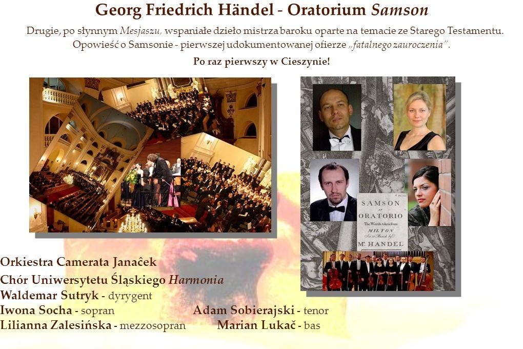 Georg Friedrich Händel - Oratorium Samson Drugie, po słynnym Mesjaszu, wspaniałe dzieło mistrza baroku oparte na temacie ze Starego Testamentu. Opowie