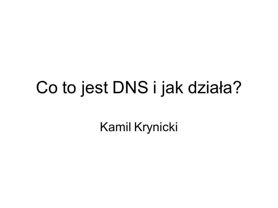 Co to jest DNS i jak działa? Kamil Krynicki