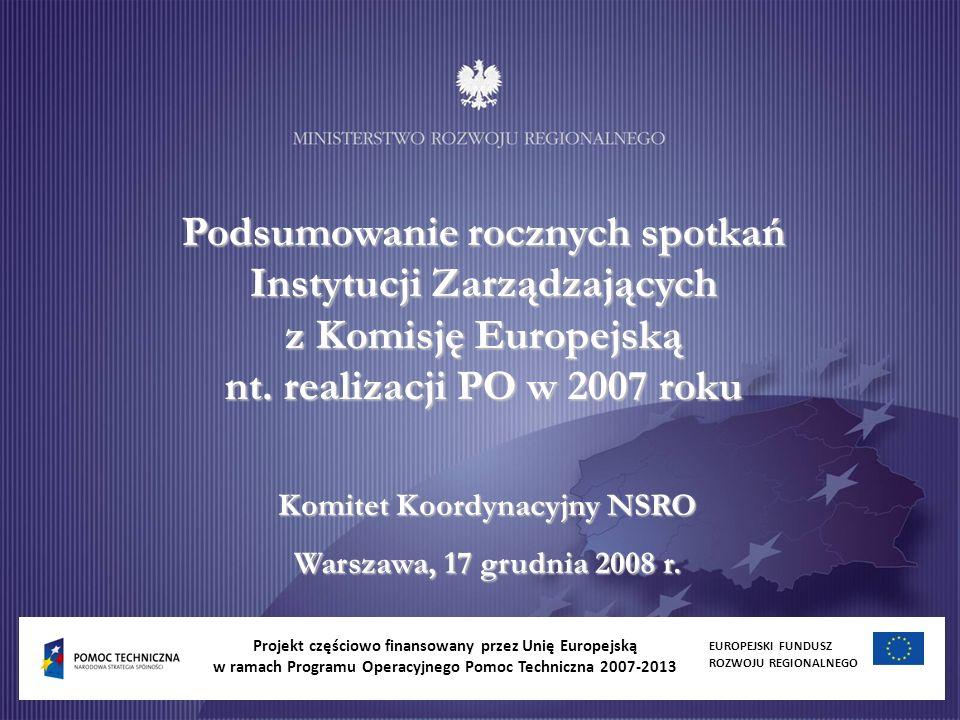 Podsumowanie rocznych spotkań Instytucji Zarządzających z Komisję Europejską nt.