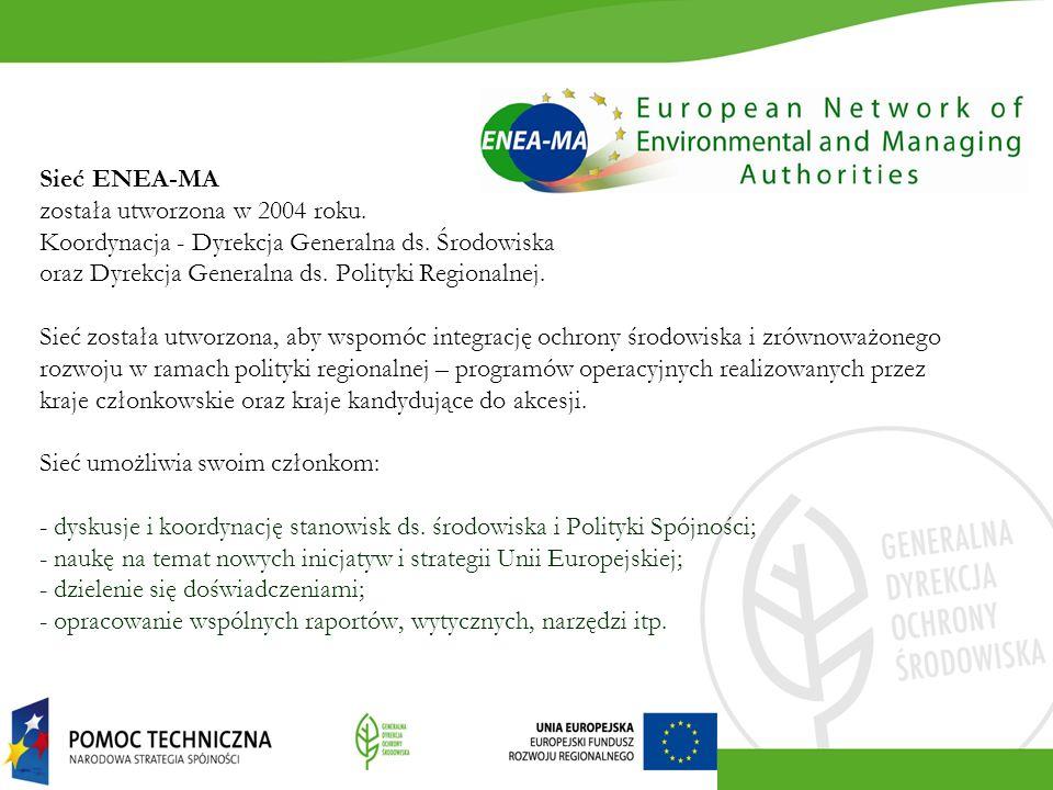 Sieć ENEA-MA została utworzona w 2004 roku. Koordynacja - Dyrekcja Generalna ds. Środowiska oraz Dyrekcja Generalna ds. Polityki Regionalnej. Sieć zos