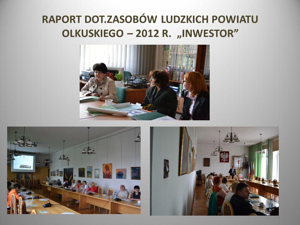 RAPORT DOT.ZASOBÓW LUDZKICH POWIATU OLKUSKIEGO – 2012 R. INWESTOR