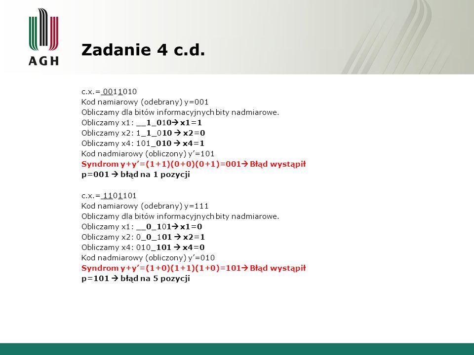 Zadanie 4 c.d.