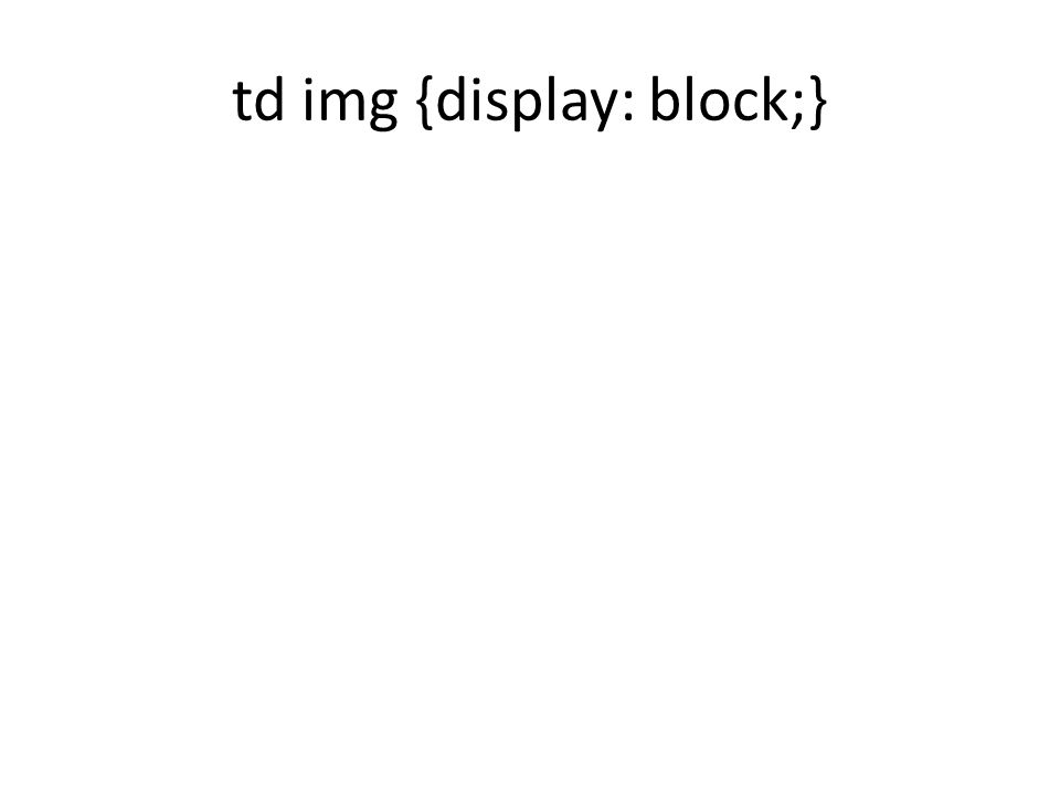 td img {display: block;}