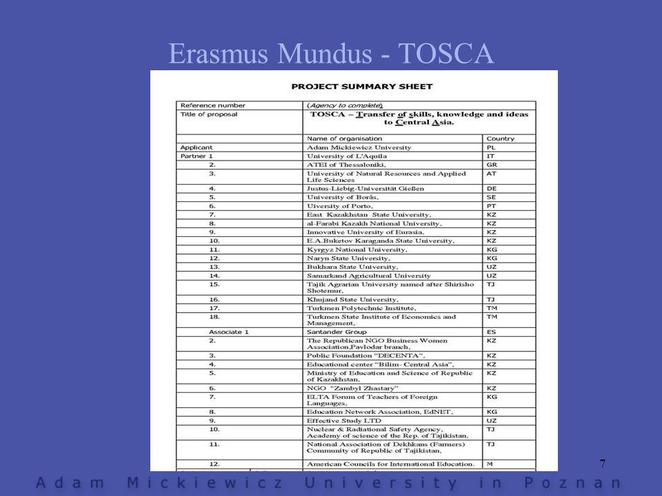 Erasmus Mundus - TOSCA 7