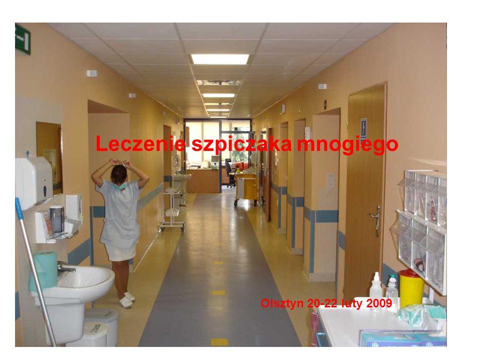 Leczenia szpiczaka Diagnostyka Szpiczak nieaktywny Białko M w surowicy > 30 g/L (FLC kappa/lambda) lub/i Komórki plazmatyczne klonalne > 10%