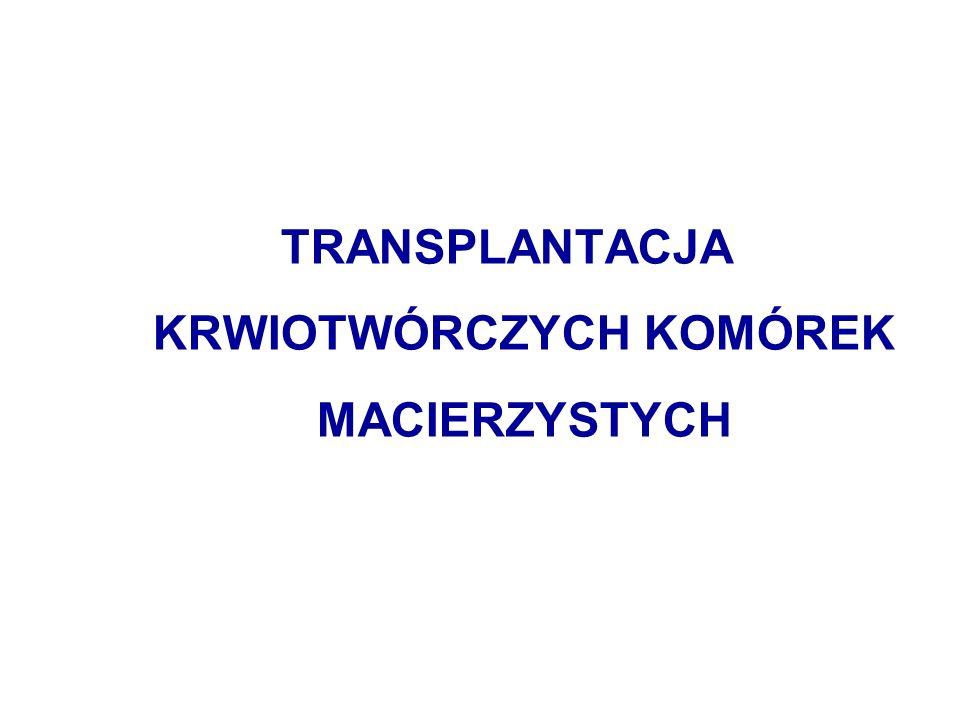 TRANSPLANTACJA KRWIOTWÓRCZYCH KOMÓREK MACIERZYSTYCH