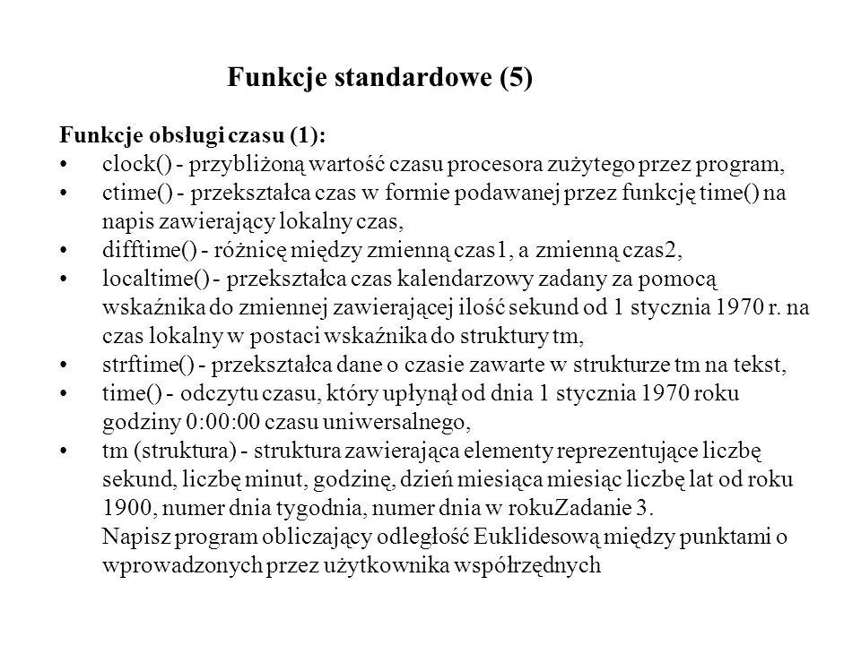 Funkcje obsługi czasu (2): Zadanie 4.