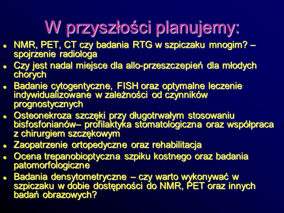 W przyszłości planujemy: NMR, PET, CT czy badania RTG w szpiczaku mnogim? – spojrzenie radiologa NMR, PET, CT czy badania RTG w szpiczaku mnogim? – sp