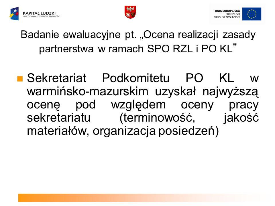 Badanie ewaluacyjne pt.