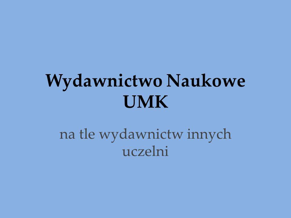Wydawnictwo Naukowe UMK na tle wydawnictw innych uczelni
