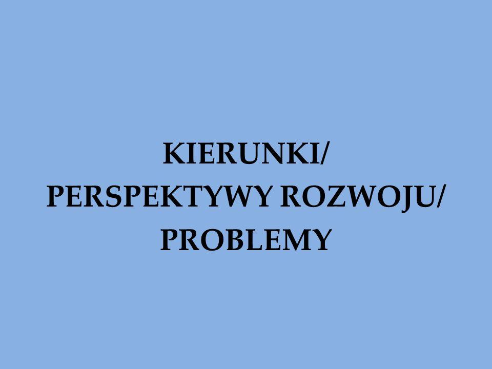 KIERUNKI/ PERSPEKTYWY ROZWOJU/ PROBLEMY