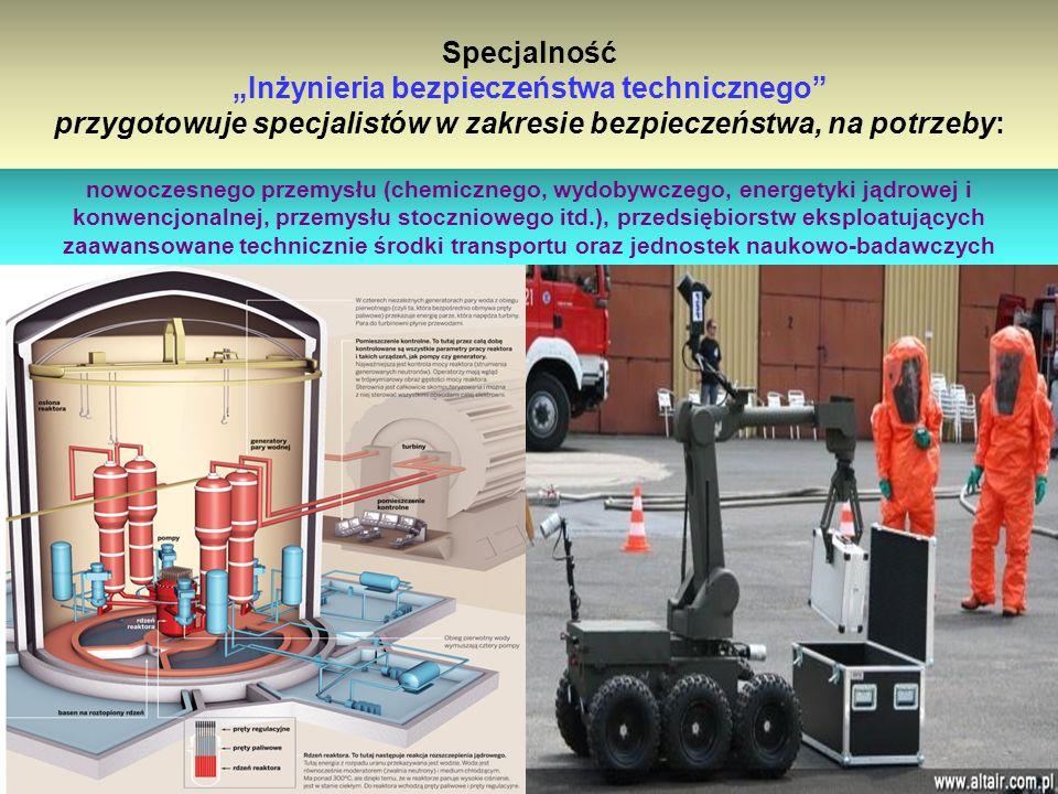 Absolwent Inżynierii bezpieczeństwa cywilnego będzie miał wiedzę kierunkową w zakresie: metod, technik oraz środków: monitorowania, identyfikacji skali i zasięgu zagrożeń