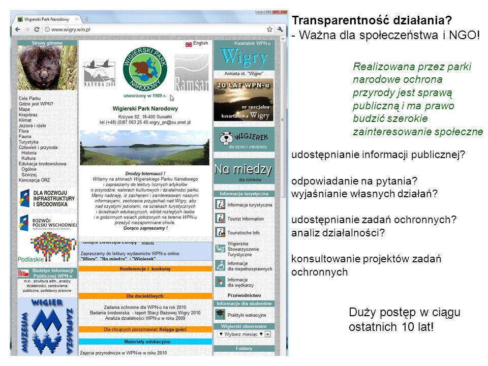 Transparentność działania? - Ważna dla społeczeństwa i NGO! udostępnianie informacji publicznej? odpowiadanie na pytania? wyjaśnianie własnych działań