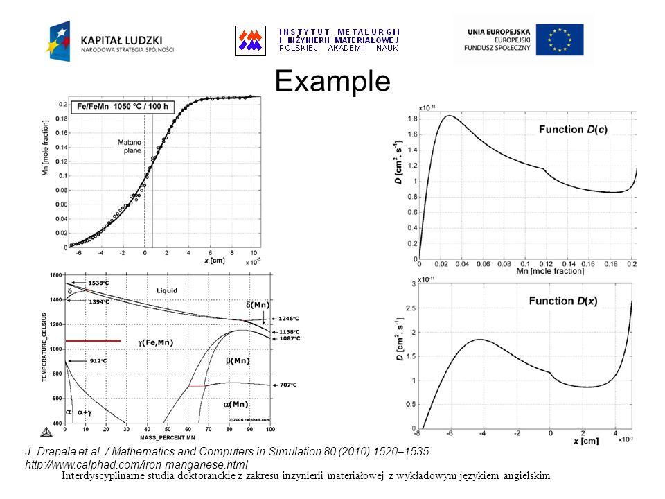 Interdyscyplinarne studia doktoranckie z zakresu inżynierii materiałowej z wykładowym językiem angielskim Example J. Drapala et al. / Mathematics and