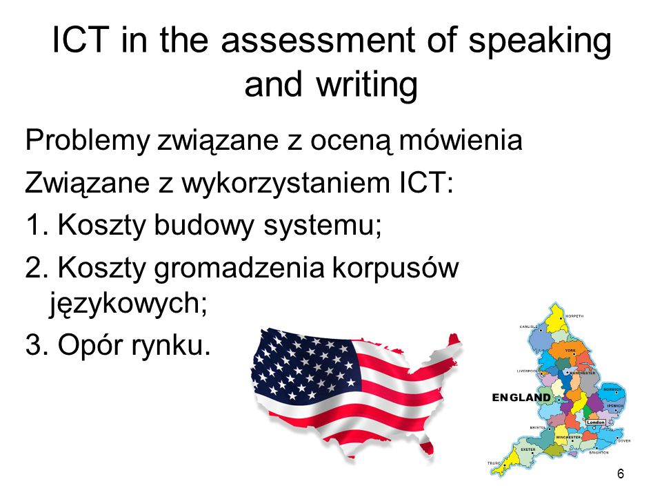 Porównanie wyników Versant English Test z innymi egzaminami InstrumentCorrelationSample size Common European Framework, 1st experiment 0.84121 Common European Framework, 2nd experiment 0.94150 Common European Framework, 3rd experiment 0.88303 TOEFL iBT Speaking0.75130 IELTS Speaking0.76130