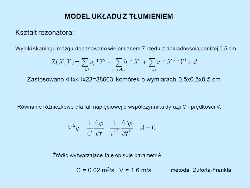 2. Model mózgu jako układu w którym rozchodzi się fala elektryczna