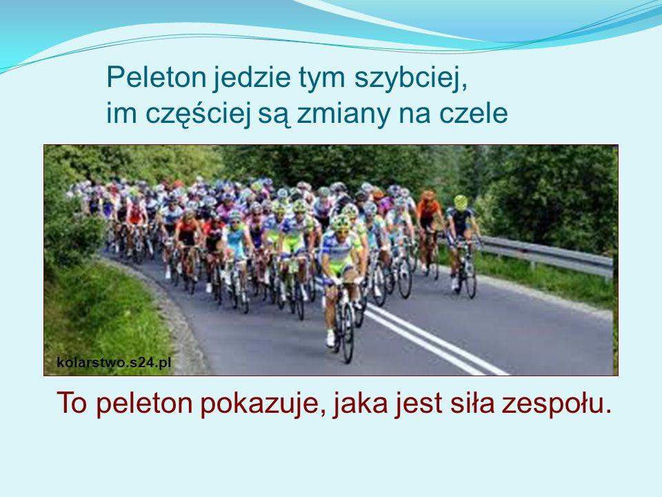 kolarstwo.s24.pl Peleton jedzie tym szybciej, im częściej są zmiany na czele To peleton pokazuje, jaka jest siła zespołu.