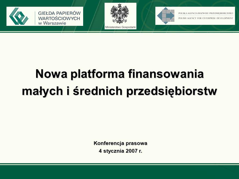 Założenia dotyczące Nowego Rynku GPW (NR) Łukasz Jagiełło Dyrektor Działu Planowania i Rozwoju Biznesu GPW w Warszawie SA Warszawa, 4 stycznia 2007 r.