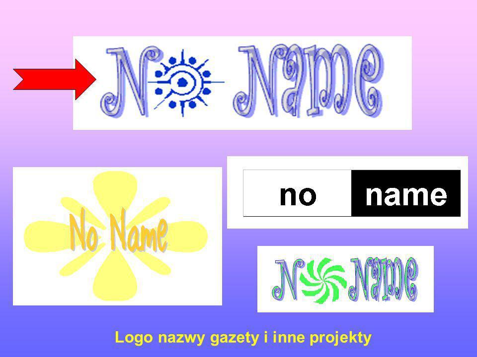 Logo nazwy gazety i inne projekty