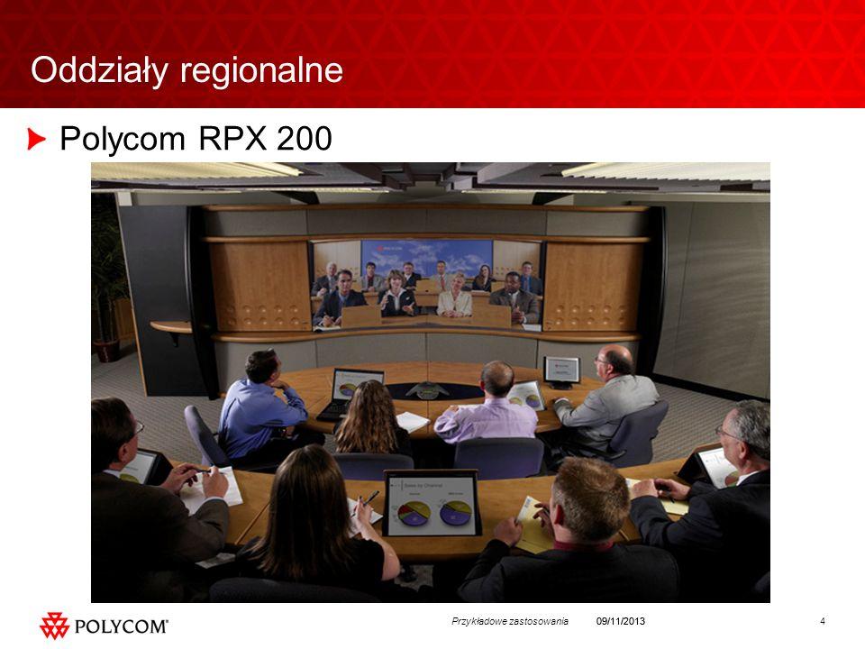 4Przykładowe zastosowania09/11/2013 Oddziały regionalne Polycom RPX 200