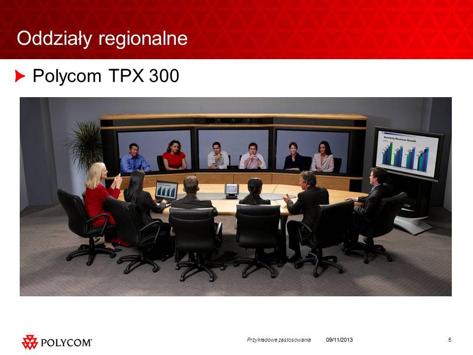 5Przykładowe zastosowania09/11/2013 Oddziały regionalne Polycom TPX 300