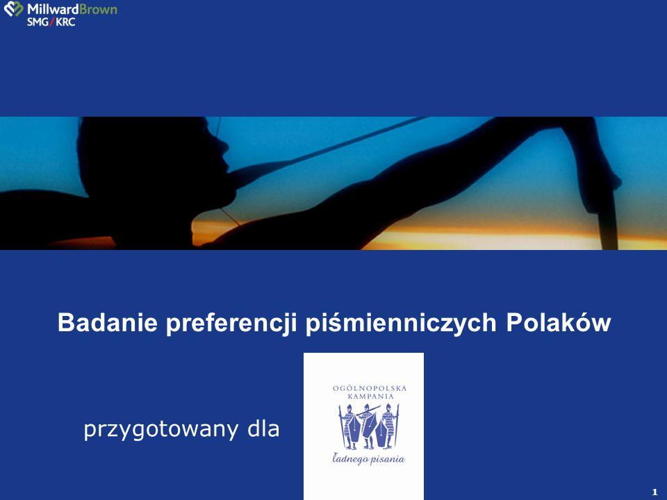 1 przygotowany dla Badanie preferencji piśmienniczych Polaków